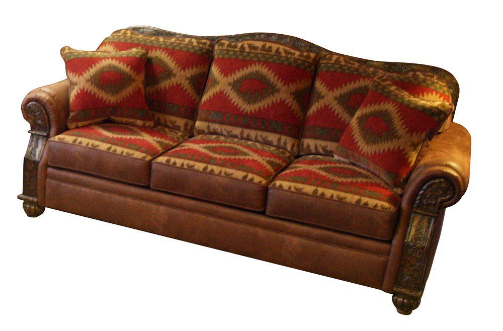 Northern Trails Pine Cone Sleeper Sofa Findley Lake Trading Co Sleeper Sofa Western Furniture Sofa