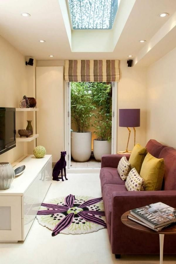 Living room set - get the long, narrow spaces