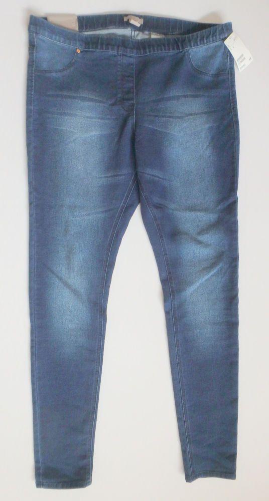 Women's H&M Super Slim Denim Leggings Size 18 NWT Skinny Jeggings Jeans Blue #HM #SlimSkinny