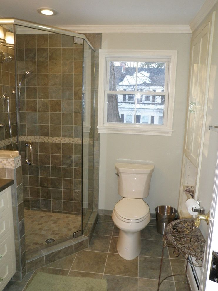 Graceful corner showers for small bathrooms image gallery Small bathroom remodel tile