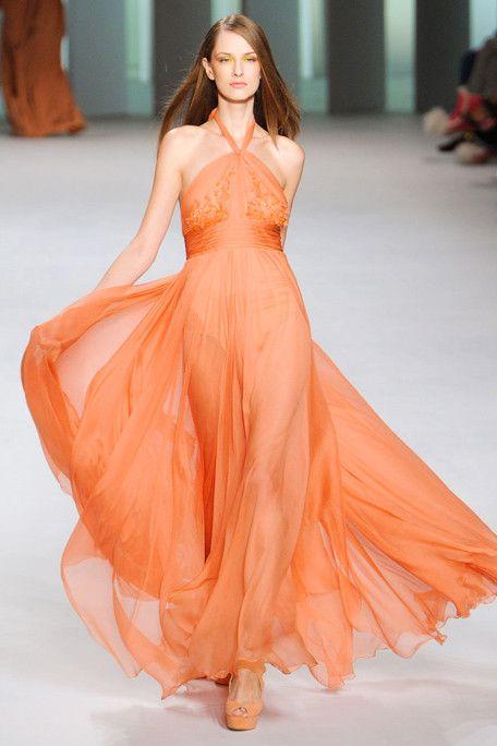 orange gown | Red & Orange | Pinterest | Light orange, Gowns and ...