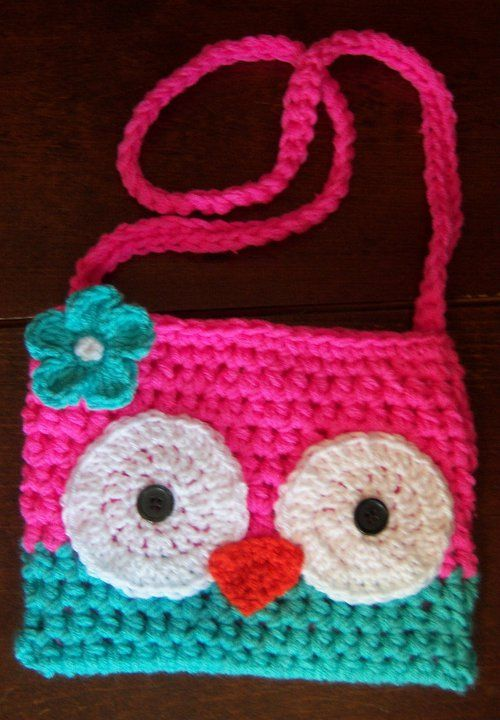 Crochet purse inspiration for an owl purse | carteras para niñas ...
