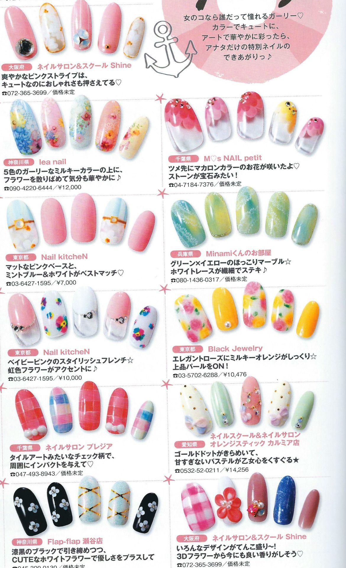 japanese nail art   Tumblr   Japanese Nail Art Magazine Scans ...