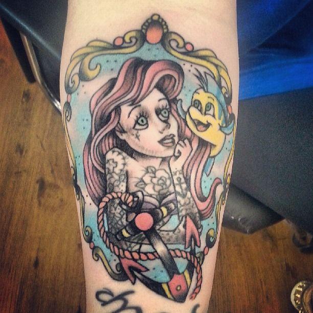 Pin By Lori Hewson On Tattoo Zombie Tattoos Ariel Tattoo Tattoos
