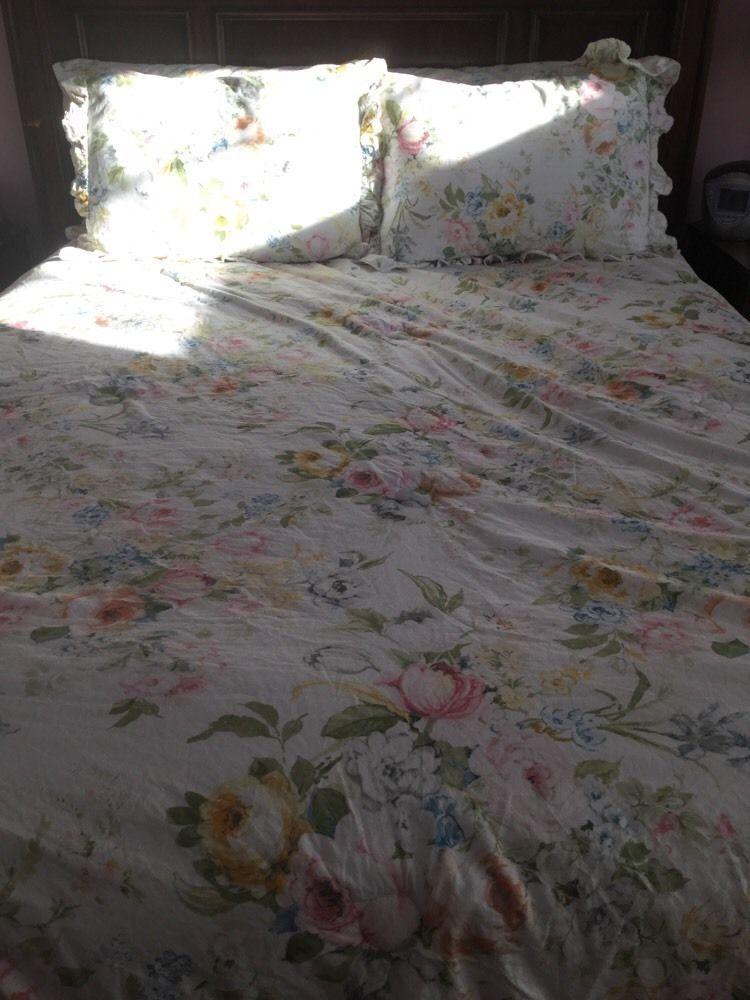Ralph Lauren Home Lake Fl French Country Shabby Rose Full Queen Comforter Ralphlauren