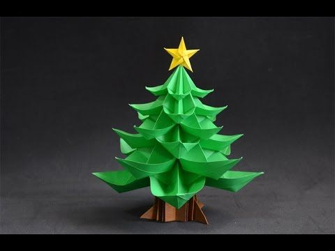 Origami Christmas Tree Youtube Origami Christmas Tree Christmas Origami Origami Tree