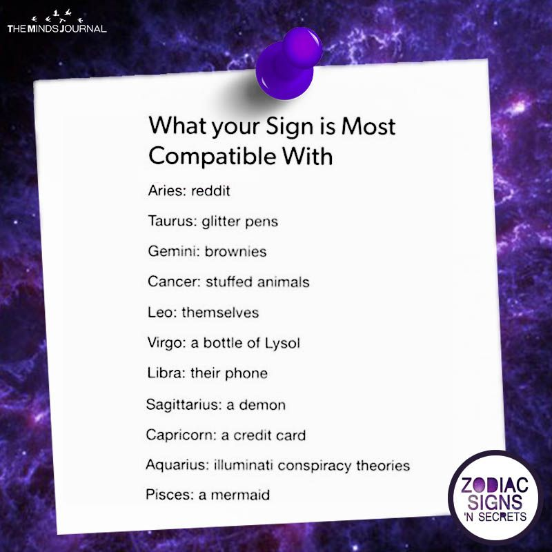 What Your Sign Is Most Compatible With Signe Astrologique