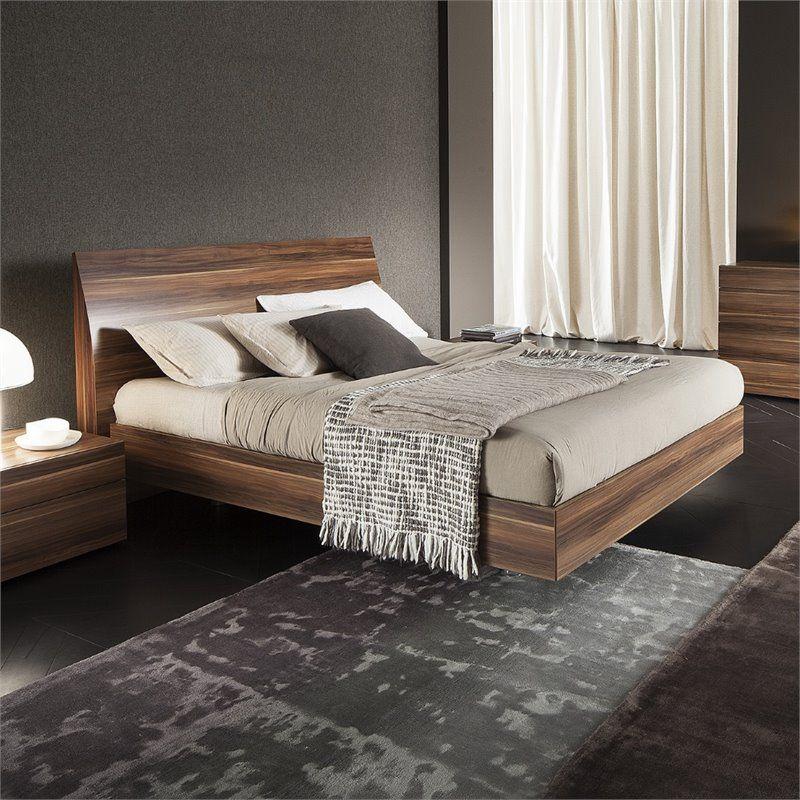 Best Rossetto Vela King Platform Bed In Walnut 4306600375000 640 x 480