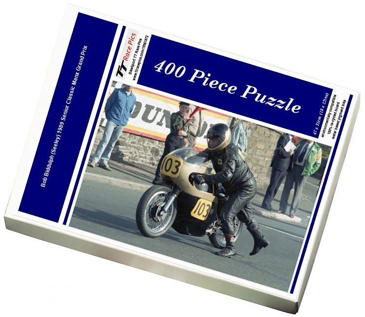 400 Piece Jigsaw Puzzle (other products available) - Bob Biddulph (Seeley) 1989 Senior Classic Manx Grand Prix - Image supplied by BikeSport TT Race Pics - #MediaStorehouse - 400 Piece Jigsaw Puzzle made to order in the UK