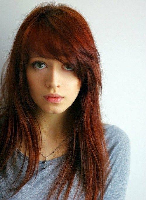 cortes de pelo para mujer pelo largo flequillo de lado