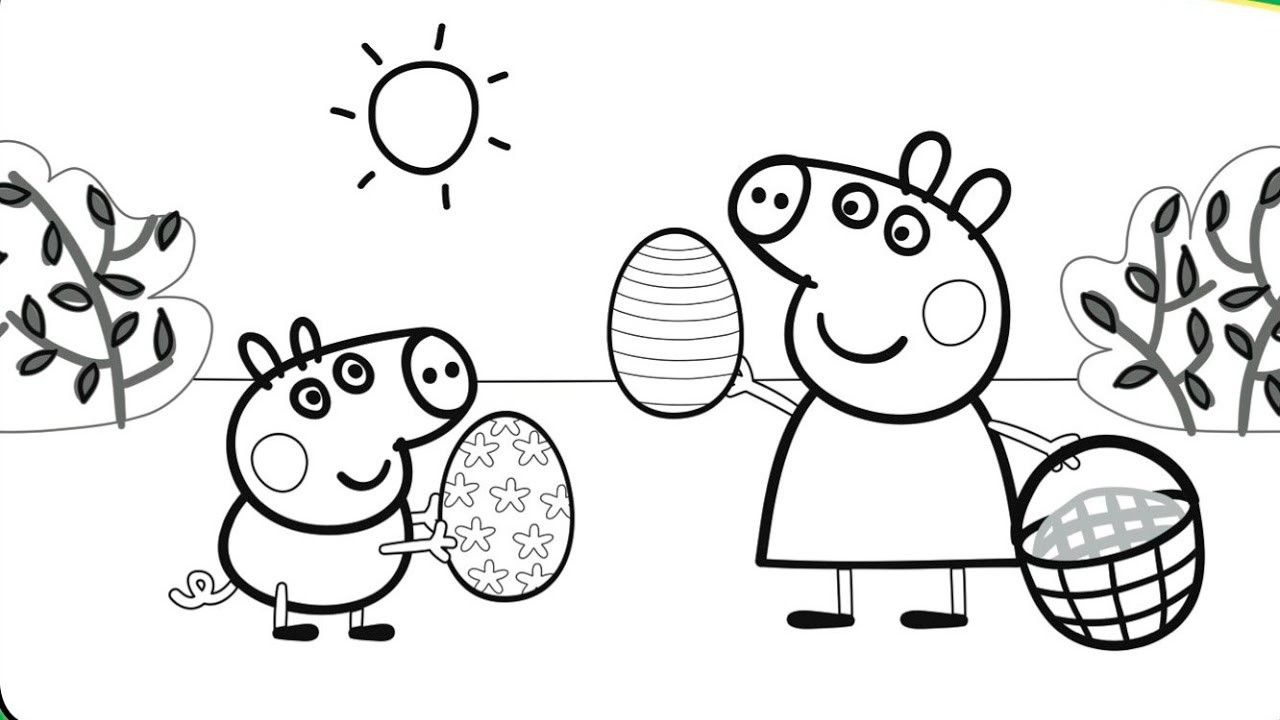 Peppa Pig Coloring Pages Swimming Through The Thousands Of Images On The Internet About Peppa P Peppa Pig Coloring Pages Peppa Pig Colouring Peppa Pig Easter