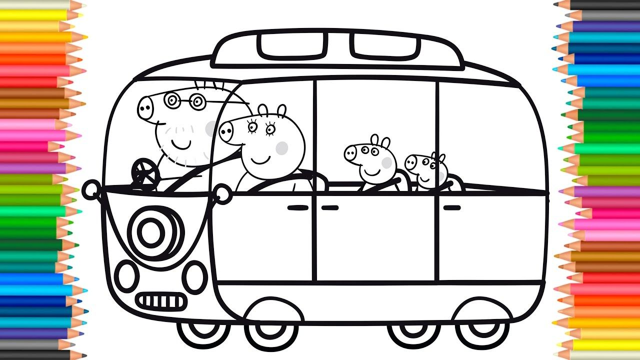 Peppa Pig Coloring Book Pages Kids Fun Art Activities Videos For Childre Coloriage Peppa Pig Coloriage Famille Coloriage Enfant