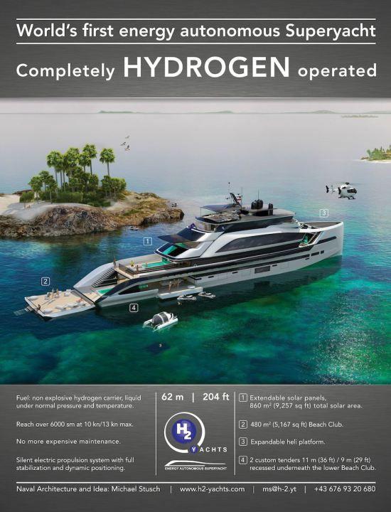 Hydrogen Superyacht