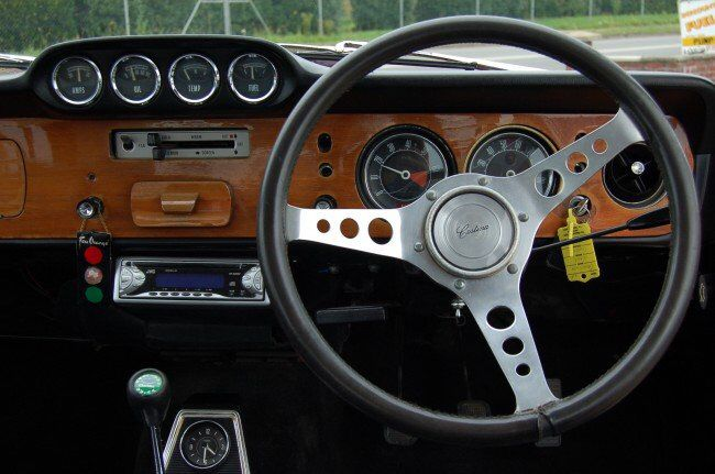 Interior Of Ford Cortina 1600e Ford Classic Cars Car Interior