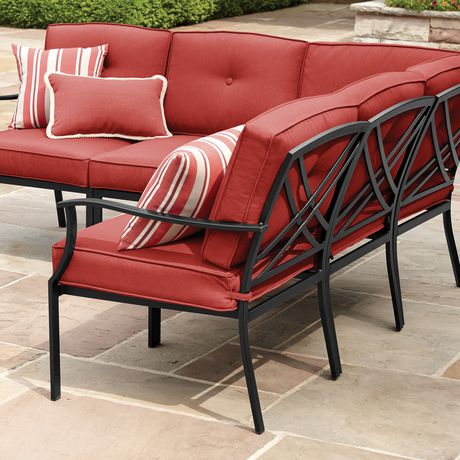 Mainstays Mainstays Montclair Sectional Red Sectional Sectional Sofa Home Decor
