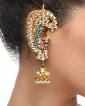 Kundan Peacock Earrings