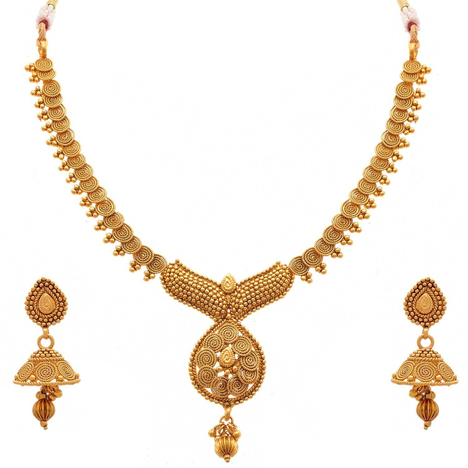 BFC - Traditional Ethnic One Gram Gold Plated Spiral Designer ...