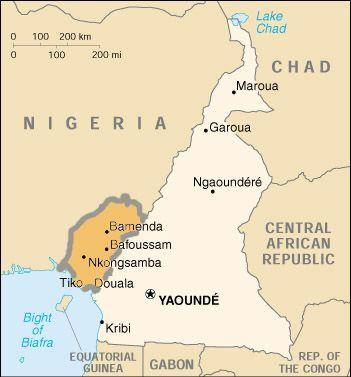 Southern cameroon map Ambazonia Wikipedia the free encyclopedia