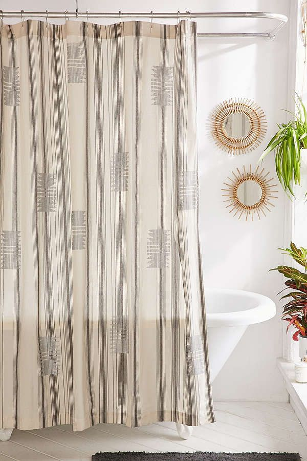 Imari Yarn Dyed Shower Curtain Modern Shower Curtains Unique