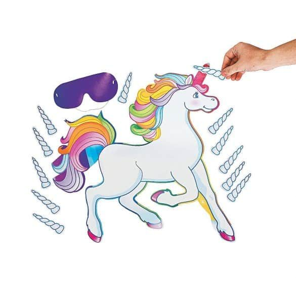 Best Unicorn Party Ideas for every budget! - Pin the horn on the unicorn, Rainbow unicorn party, Unicorn party supplies, Unicorn party, Unicorn party bags, Unicorn games - Rainbows, party favors, and unicorn horns galore! Use one or all of these unicorn party ideas for throwing a