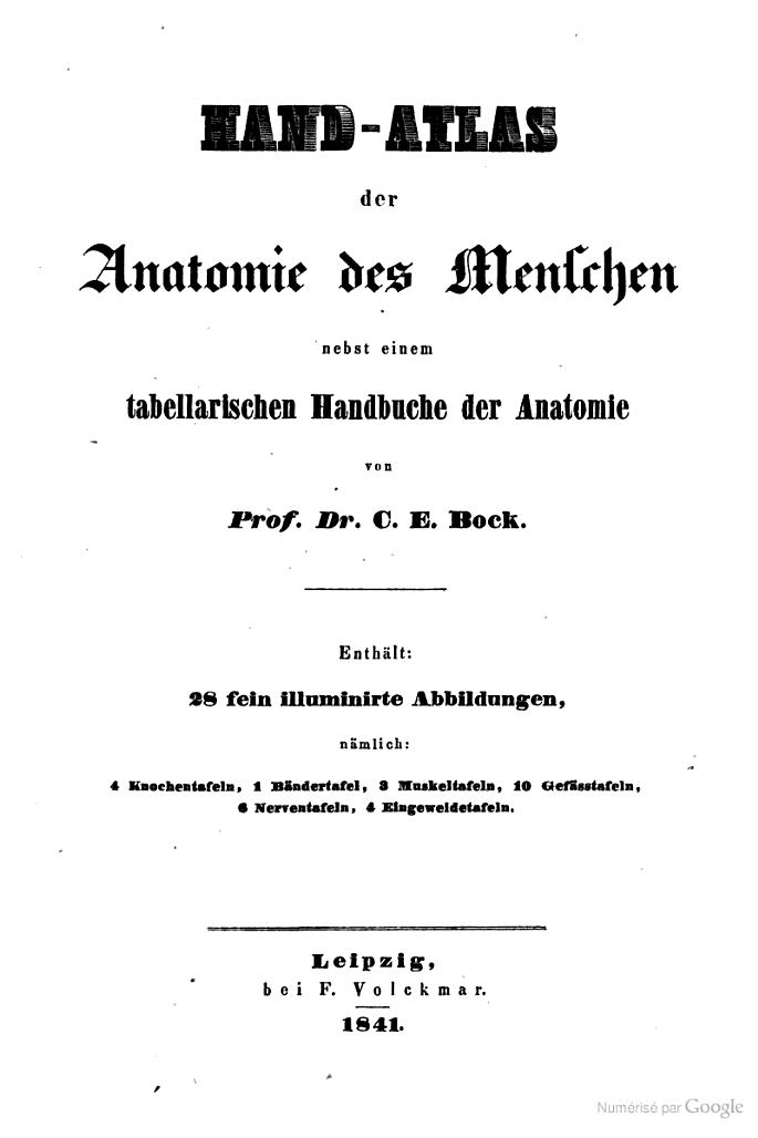 Hand-atlas der anatomie des menschen: nebst einem tabellarischen ...