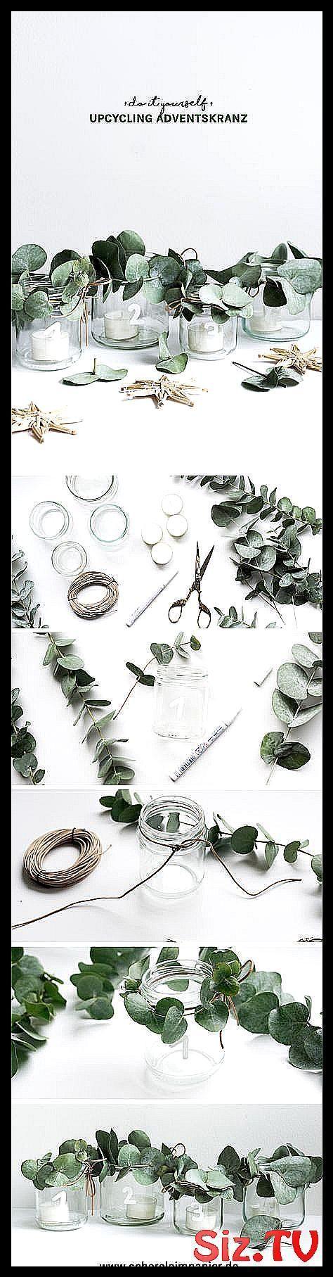 DIY Adventskranz – eine Upcycling-Idee mit Glas, um den Adventskranz selbst zu machen: …., #Advent …