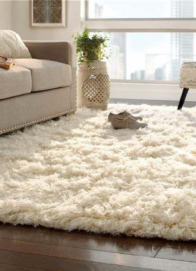 White Shag Rug Rugs In Living Room Home Decor Home