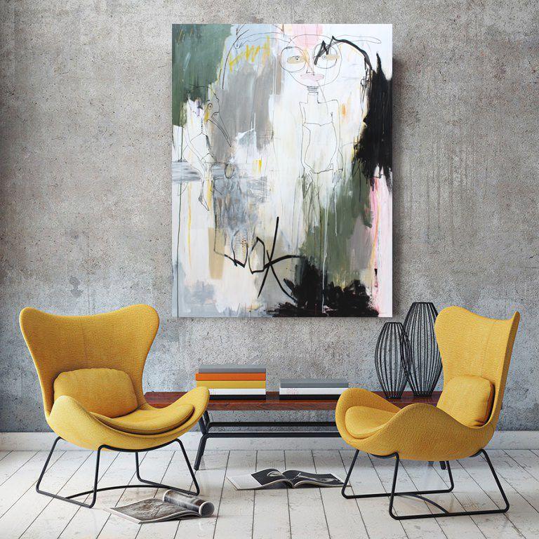 Artist Bettina Holst Abstract Painting 120x90 Abstrakte Malerier