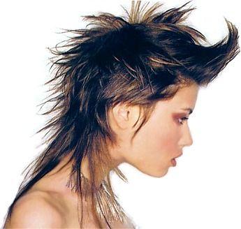 Medium Layered Spiky Hair Style Brown