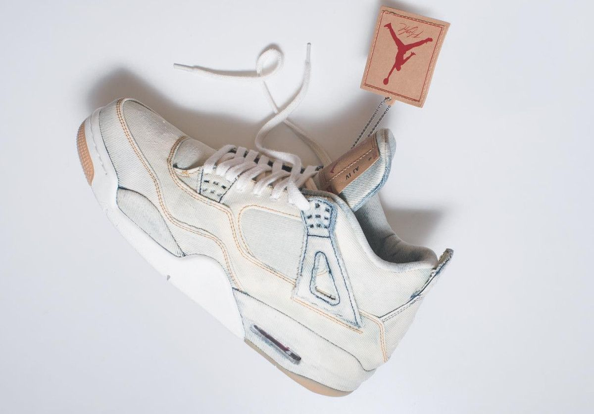 the best attitude 359a6 5fab2 The Levi s x Air Jordan 4 Gets a Bleached Out Custom Makeover