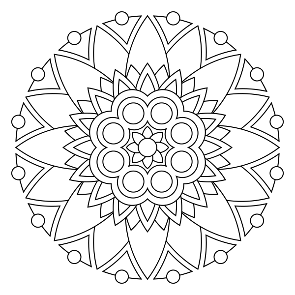Free printable mandala coloring pages - imagine these done on fabric ...