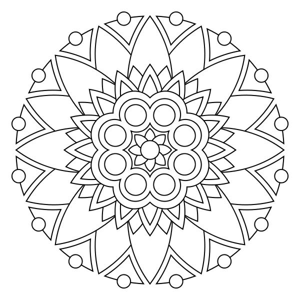 Print Mandala Coloring Pages Mandala Coloring Mandala Coloring Pages Simple Mandala