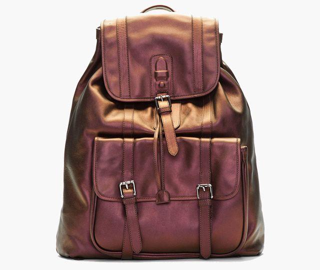 Neil Barrett Copper Iridescent Brasilia Backpack