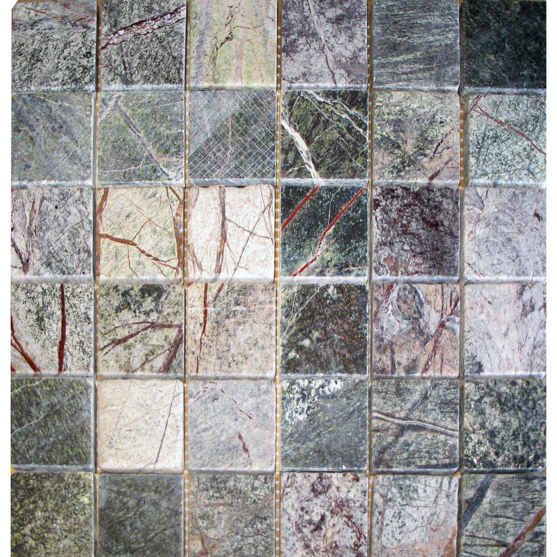 "MS International 2"" x 2"" Marble Mosaic Tile in Rain Forest"