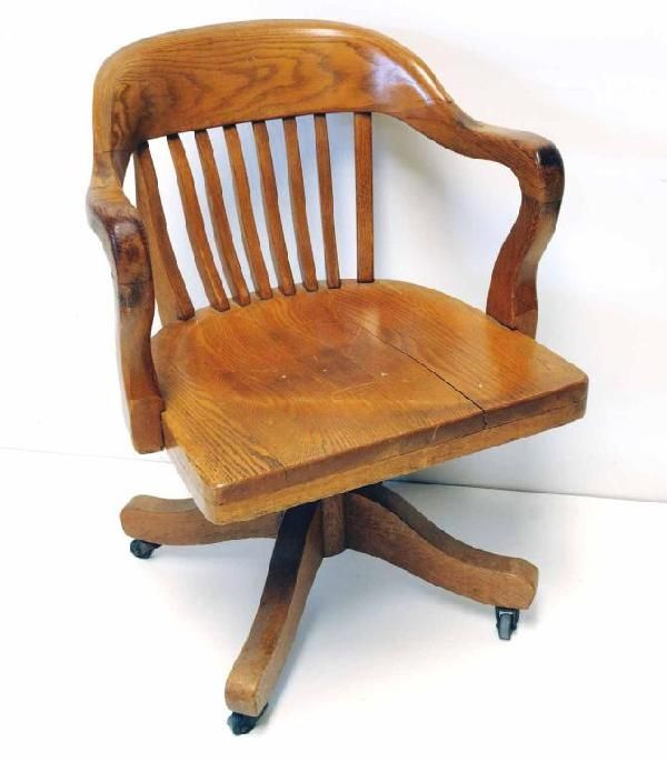 16 Oak Swivel Desk Chair W Arms On Work Nook Ideas