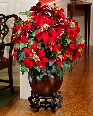 Silk Premier Poinsettia Extra Large Silkflowers Com Christmas Floral Arrangements Christmas Flowers Christmas Centerpieces