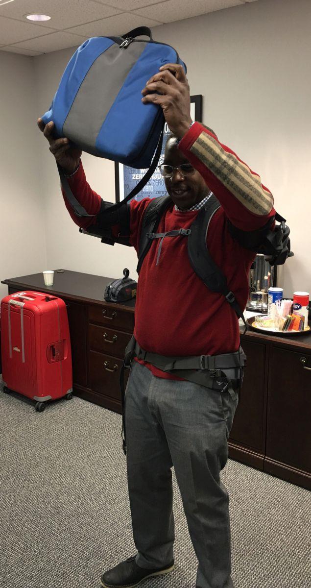 Ekso Works Vest at Laborer's Health & Safety Fund of North