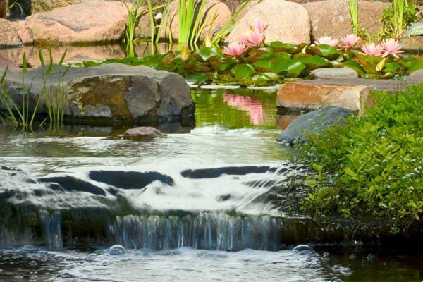 Creating A Gentle Garden Stream | Water features in the ... |Gentle Waterfall Pond