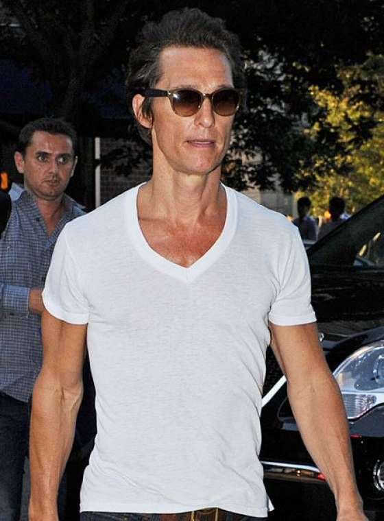 Matthew Mcconaughey Preparing For Dallas Buyers Club Mens Tops Matthew Mcconaughey White Undershirt