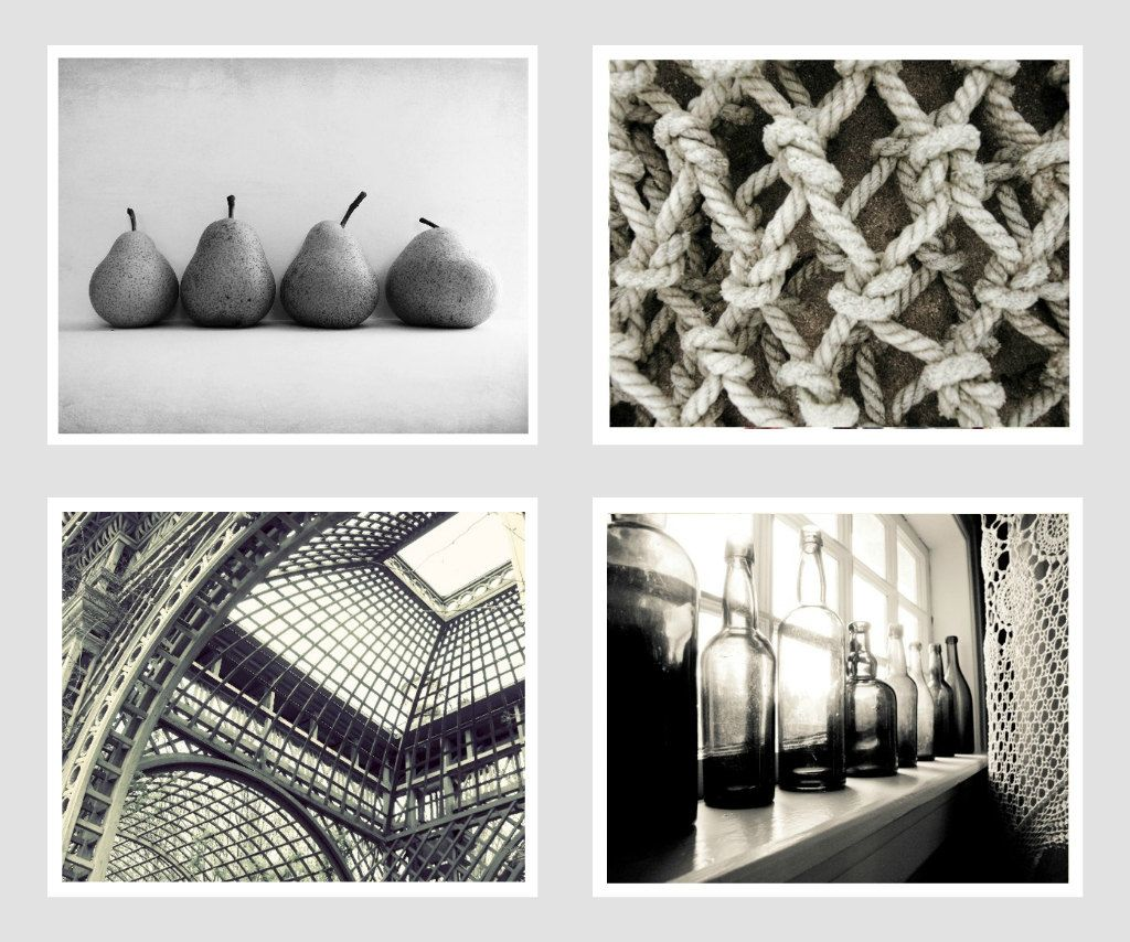 SALE Shades of Gray Black and white Photo Set of by honeytree