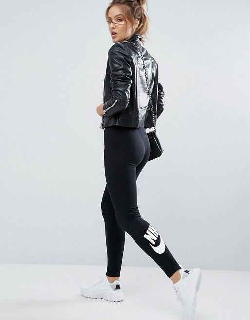 6b98cdcd72 Nike | Nike Leg A See Leggings In Black With Futura Logo ...