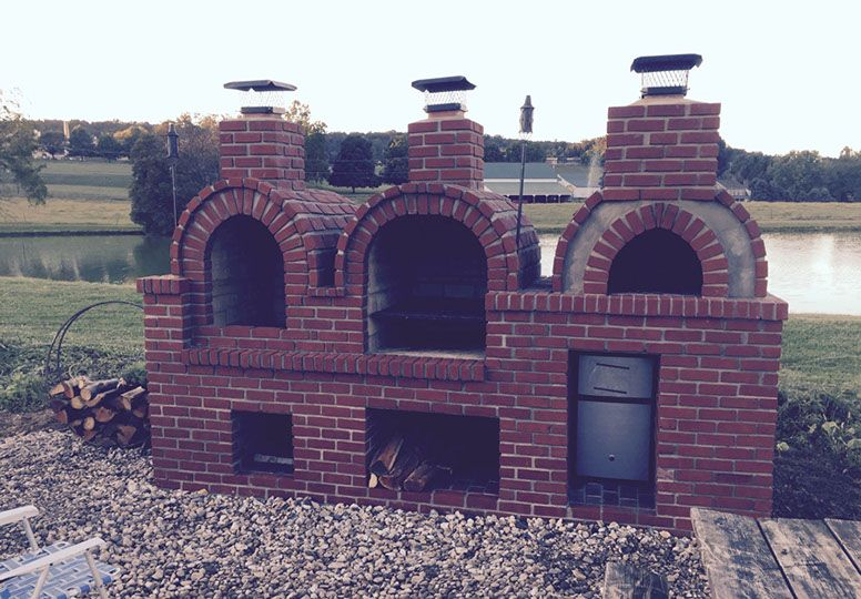 Mittelalter Küche Selber Bauen Wood-fired Outdoor Brick Pizza Oven And Bbq By Brickwood