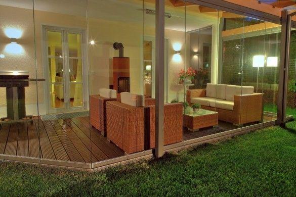 geschützte terrasse dank glasdach und verglasung bei homburg an, Terrassen deko
