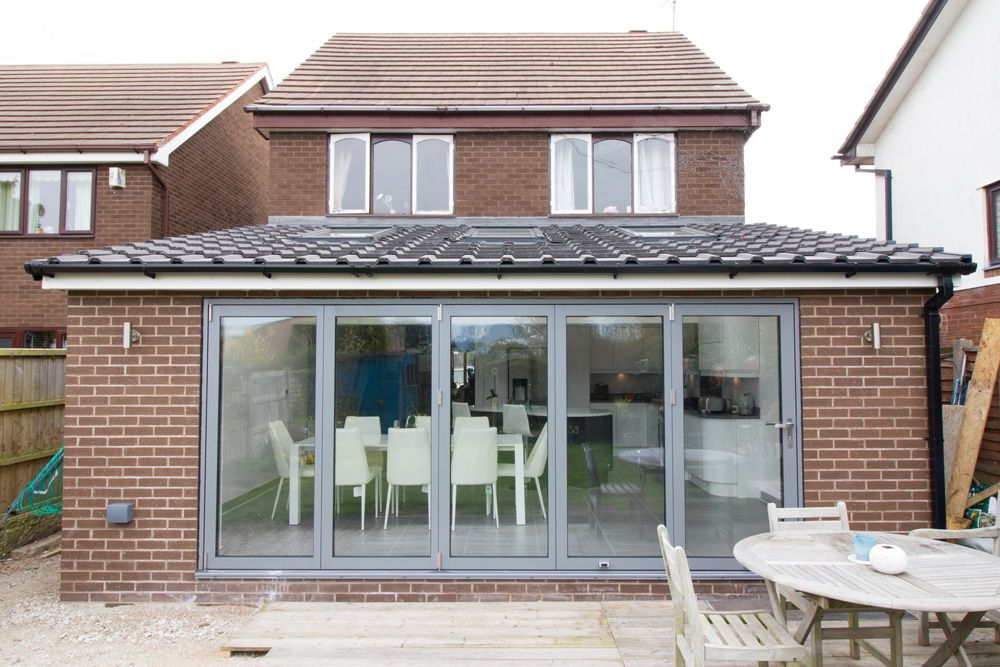 Kitchen extensions with bifold doors google search the for Kitchen extension ideas uk