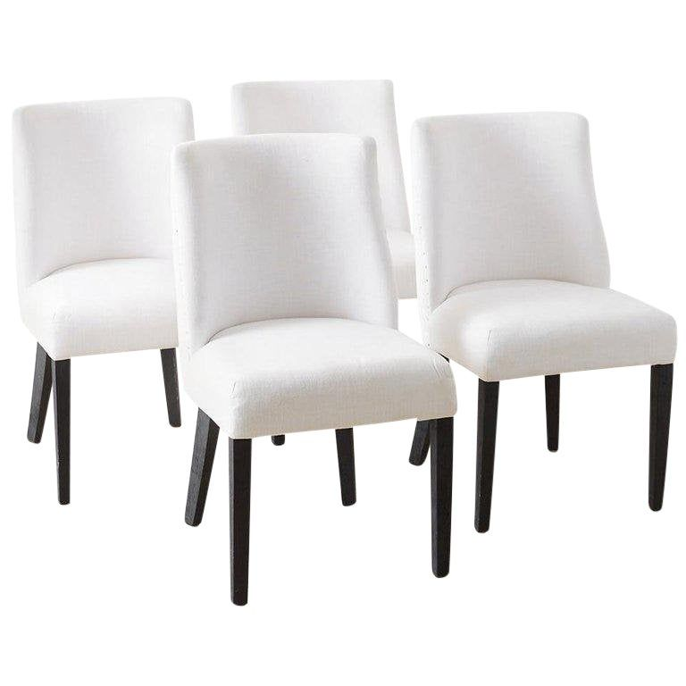 Best Set Of Four French Barrel Back Style Dining Chairs In 2020 400 x 300
