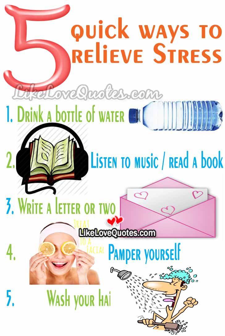 5 Quick Ways To Relieve Stress Summer Fun Pinterest
