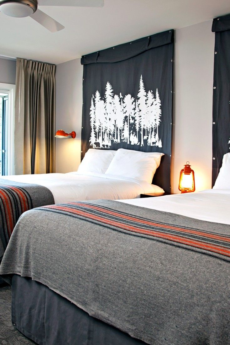 Beau Guestrooms Feature Camp Inspired Decor, Including Wooly Blankets And  Adirondack Chairs. #Jetsetter