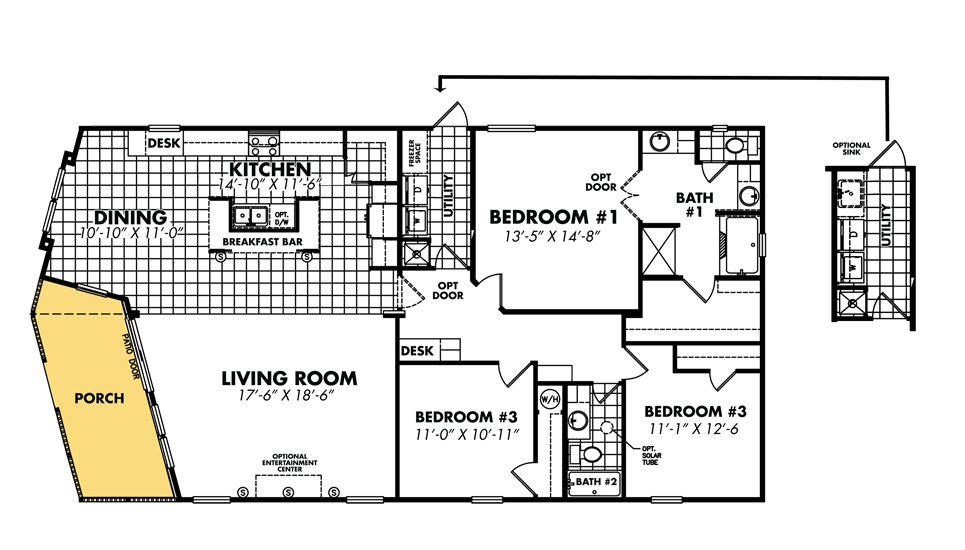 Mobile Home Blueprints 3 Bedrooms Single Wide 71 Bedroom Double