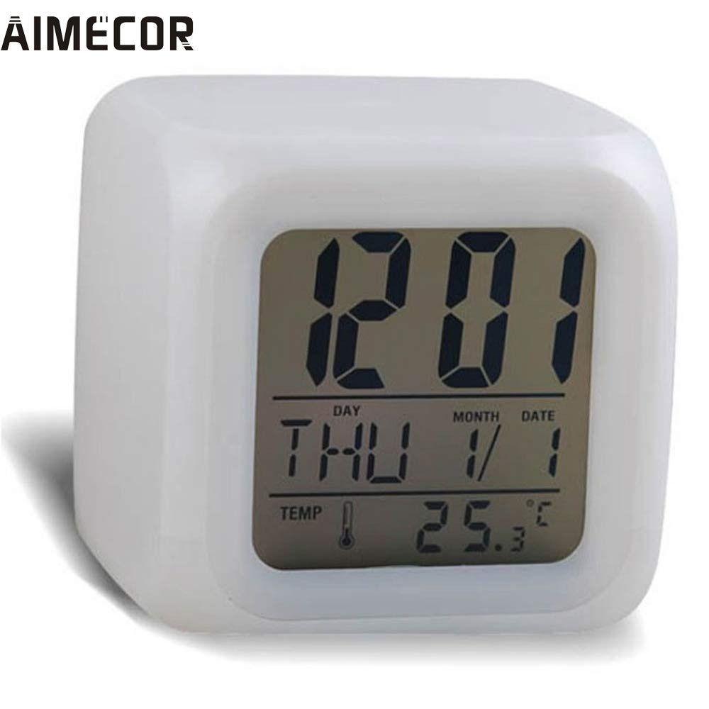 Cloud Alarm Clock Led Watch Glowing Sounds Control Led Display Usb Interface Thermometer Desktop Clocks Cube Clocks Home Decor