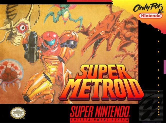 New Super Metroid Box Art | SNES | Super nintendo games, Super